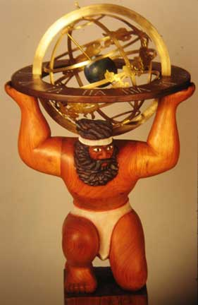 atlas with armillary sphere