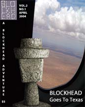 cover of blockhead goes to texas