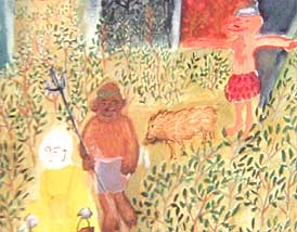 detail of the story of monkey